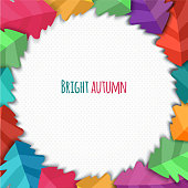 Autumn abstract vector background. simple shapes