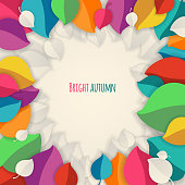 Autumn abstract vector background.