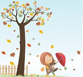 Autumn and girl