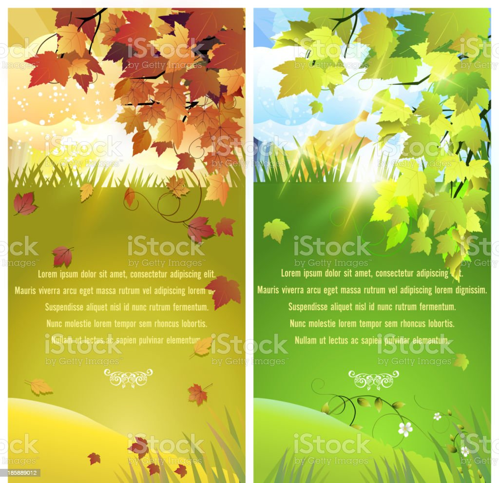 Autumn and Spring Banners royalty-free autumn and spring banners stock vector art & more images of autumn