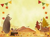 istock Autumn animals message card 1271661998