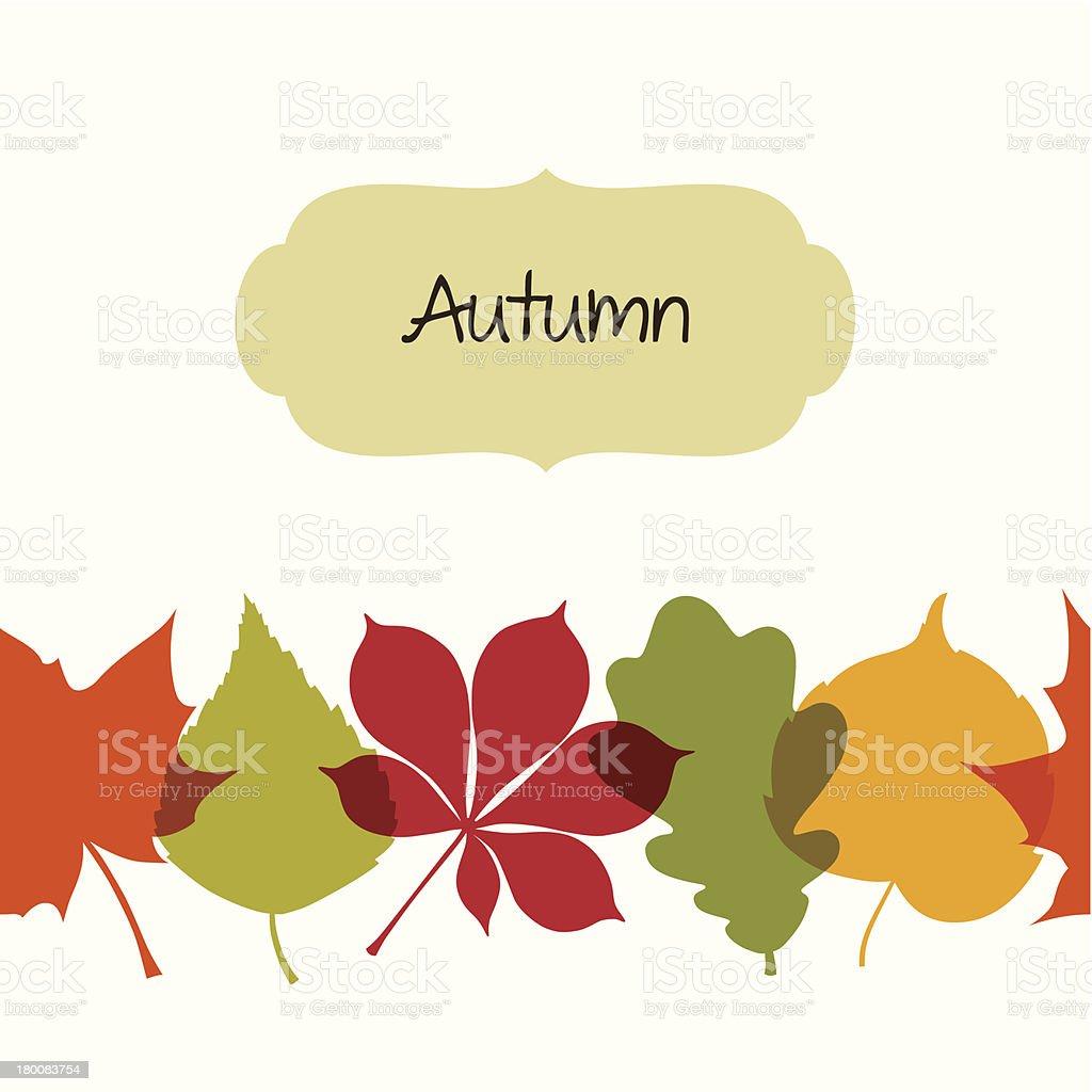 Autumn backgraund royalty-free stock vector art