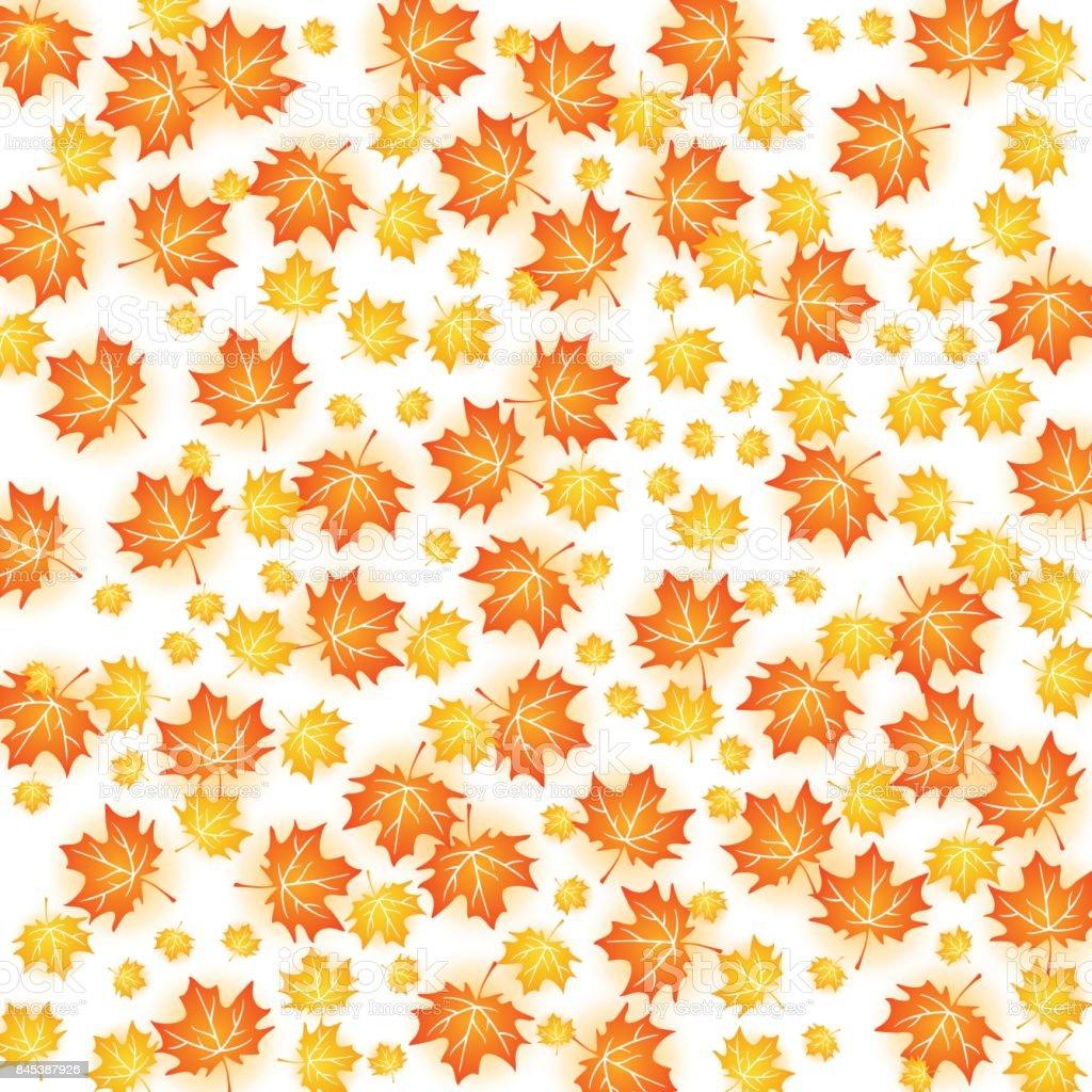 Herbst Hintergrund Illustration Vektordesign Von Ahornblatt Fallen