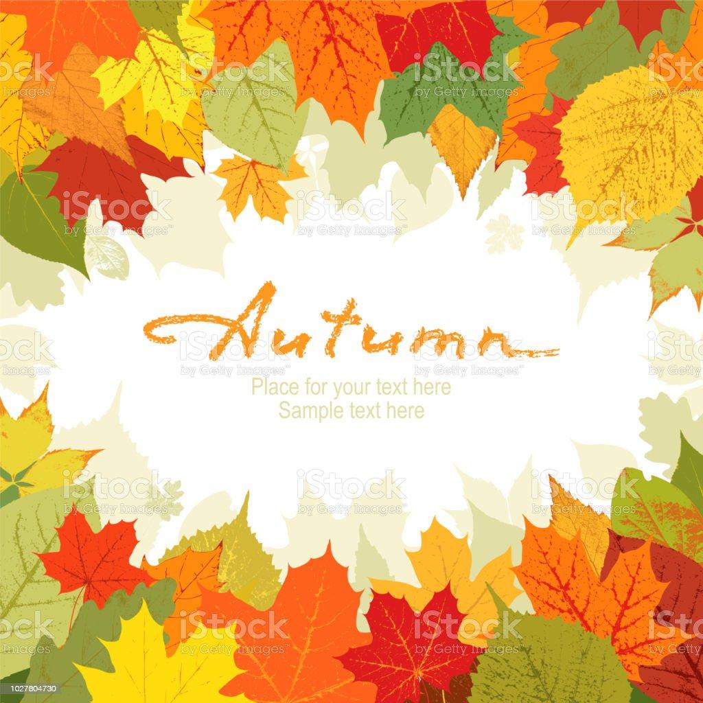 Herbst Hintergrund Stock Vektor Art Und Mehr Bilder Von Abstrakt