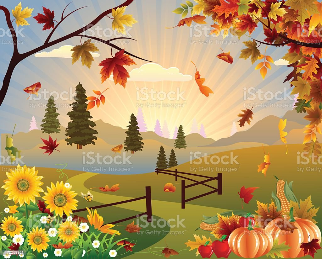 Autumn Background royalty-free autumn background stock vector art & more images of apple - fruit
