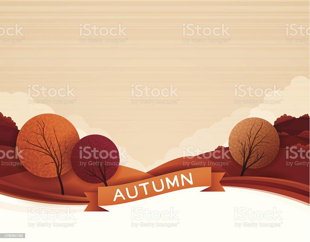 Fond d'automne - Illustration vectorielle
