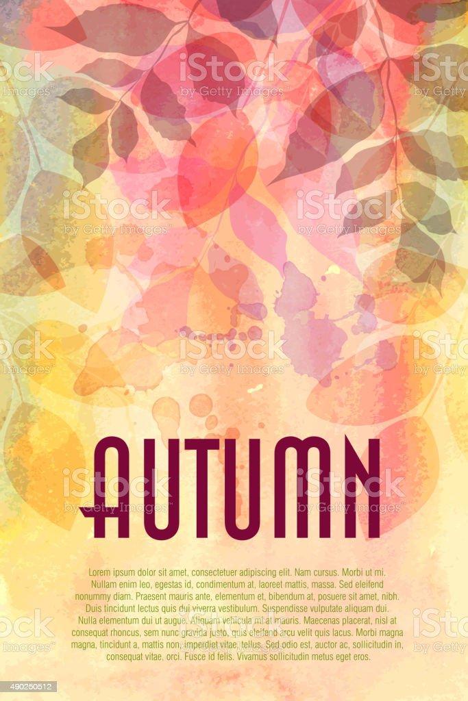 秋の背景 ベクターアートイラスト