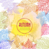 Autumn Background. Elements are grouped.contains eps10 and high resolution jpeg.