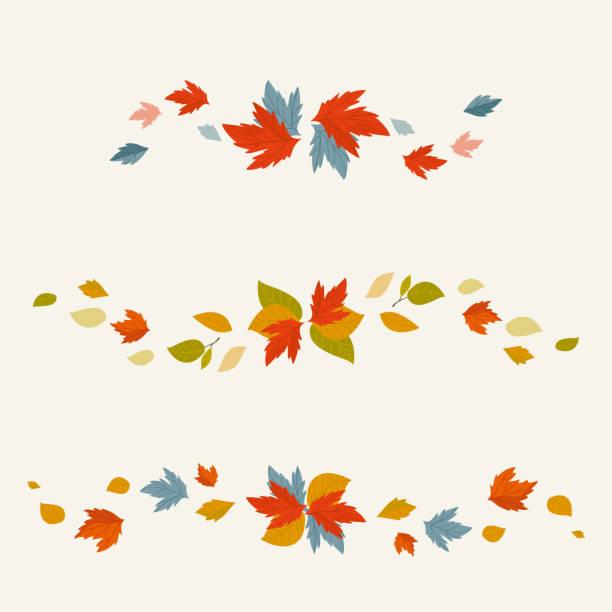 Autumn background vector illustration Autumn leaves fall on background vector illustration. fall leaves stock illustrations