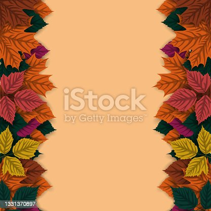 istock Autumn background with autumn leaves 1331370897