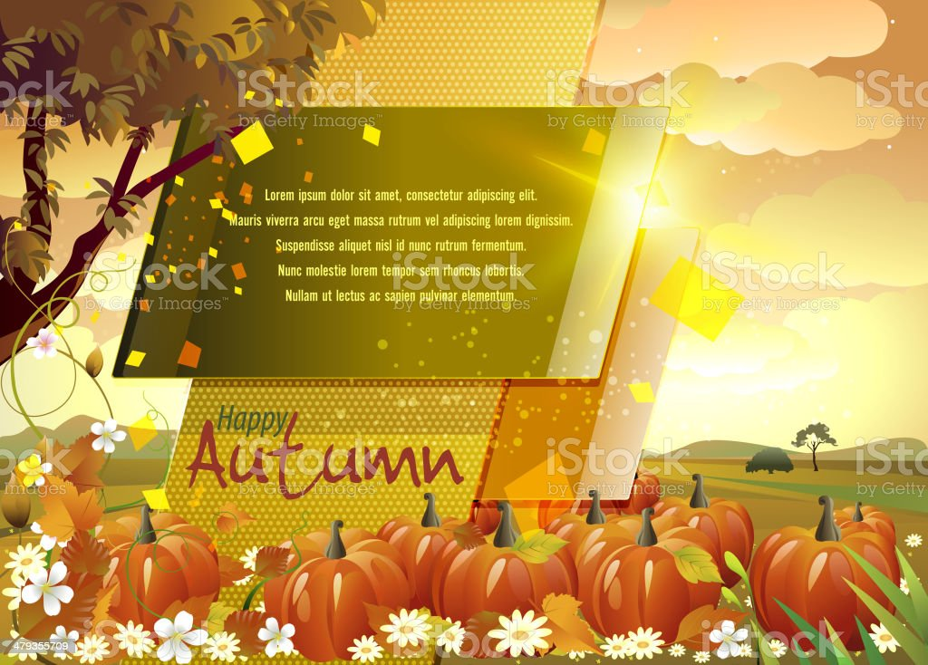 Autumn Background with Copy Space royalty-free autumn background with copy space stock vector art & more images of autumn