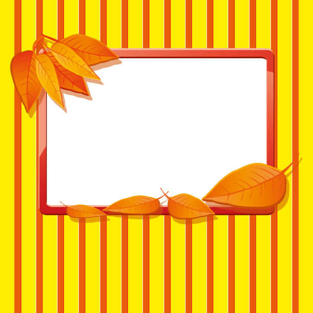 Autumn background with dry leaves, part 12 vector art illustration