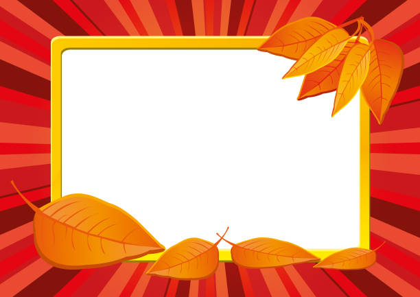 Autumn background with dry leaves, part 14 vector art illustration