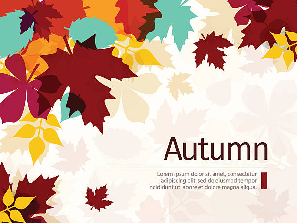 Autumn Background with Leaves Autumn background with leaves. Flat Design Style.  fall background stock illustrations