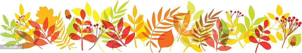 秋の葉のバックグラウンド ベクターアートイラスト