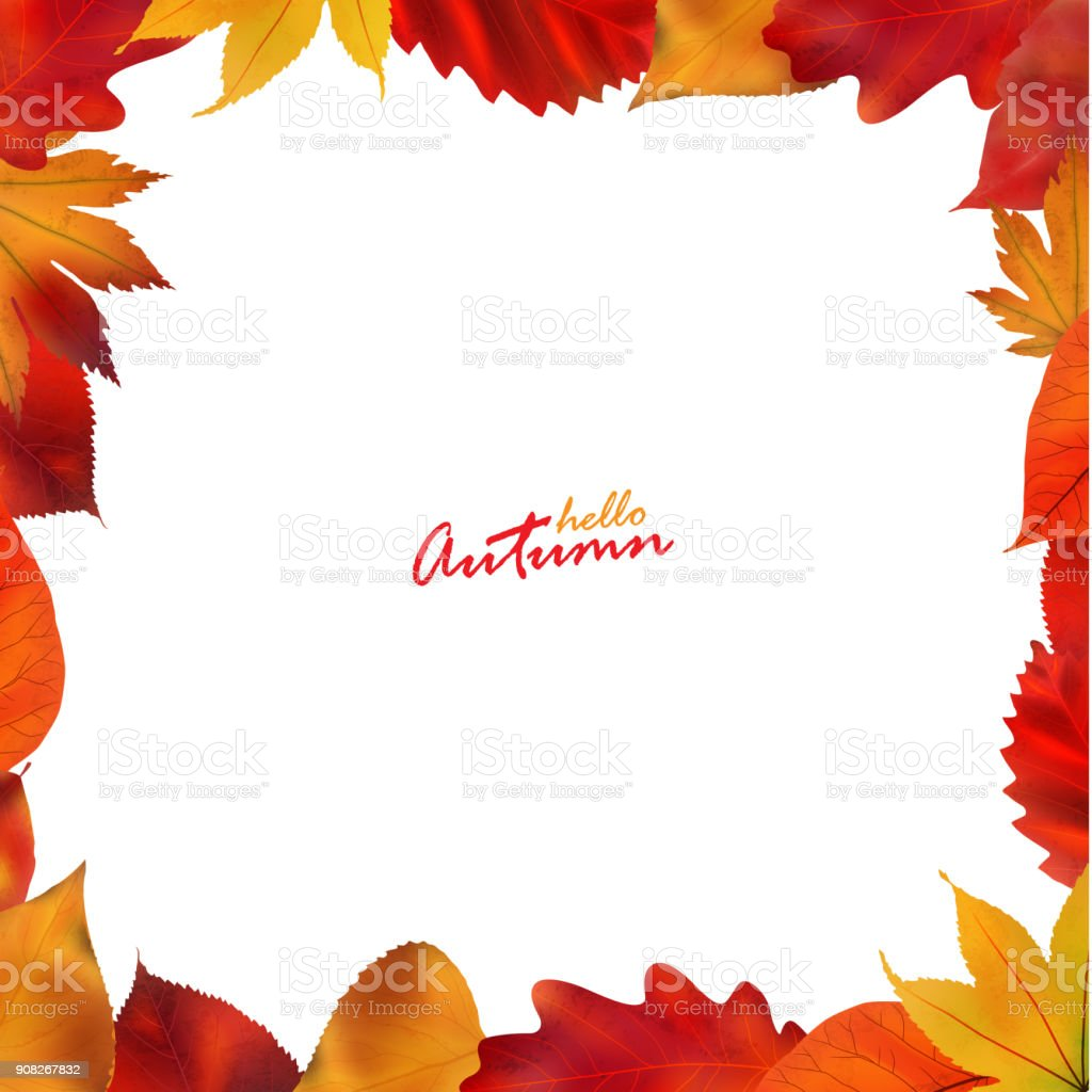 Autumn background with leaves. Vector illustration. vector art illustration