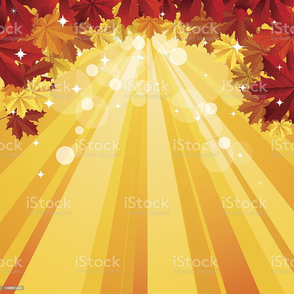 Autumn background with space for text royalty-free stock vector art