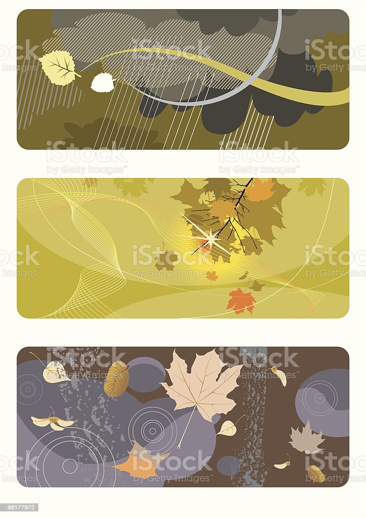 autumn backgrounds set royalty-free autumn backgrounds set stock vector art & more images of abstract