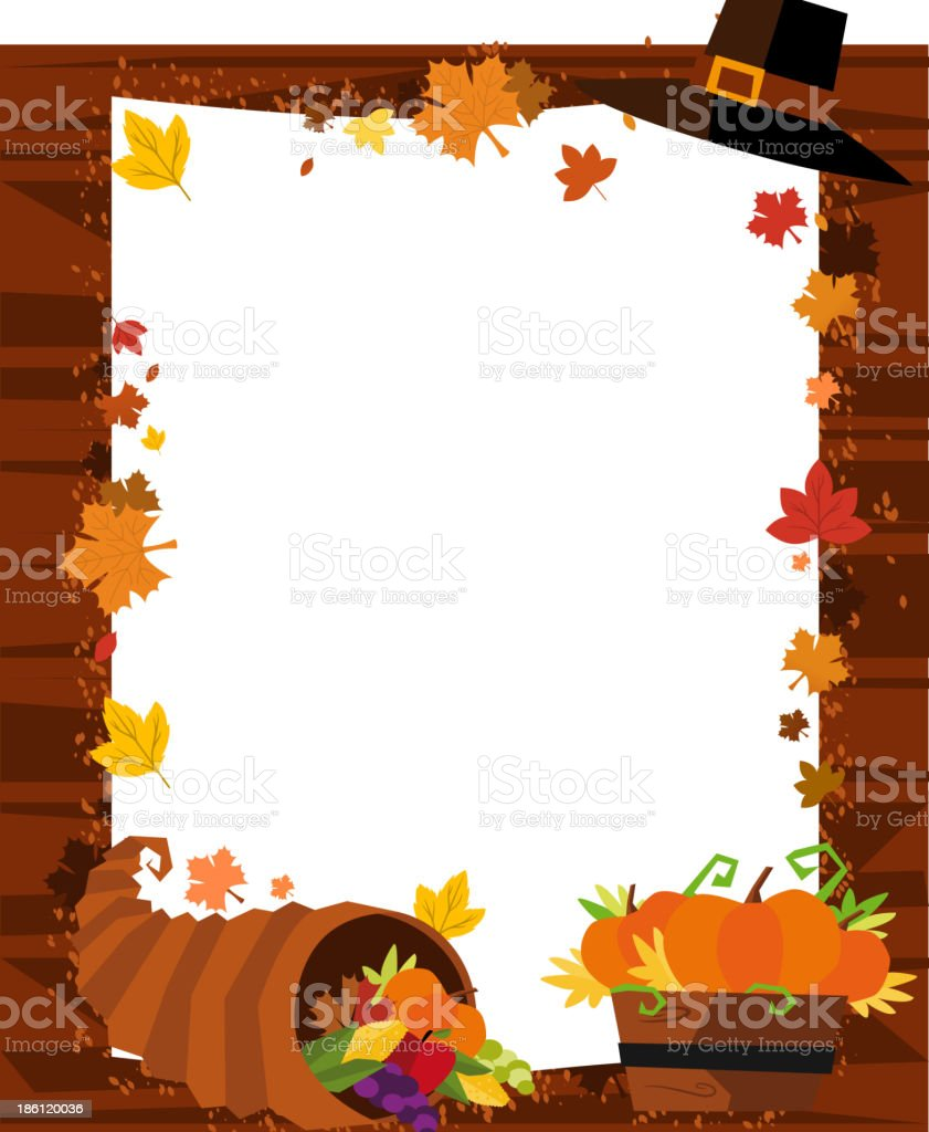 Autumn Banner Hat Leaf Pumpkin Horn of Abundance royalty-free autumn banner hat leaf pumpkin horn of abundance stock vector art & more images of abstract