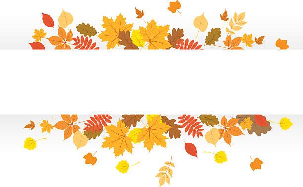 ilustraciones, imágenes clip art, dibujos animados e iconos de stock de otoño de banner - despedida