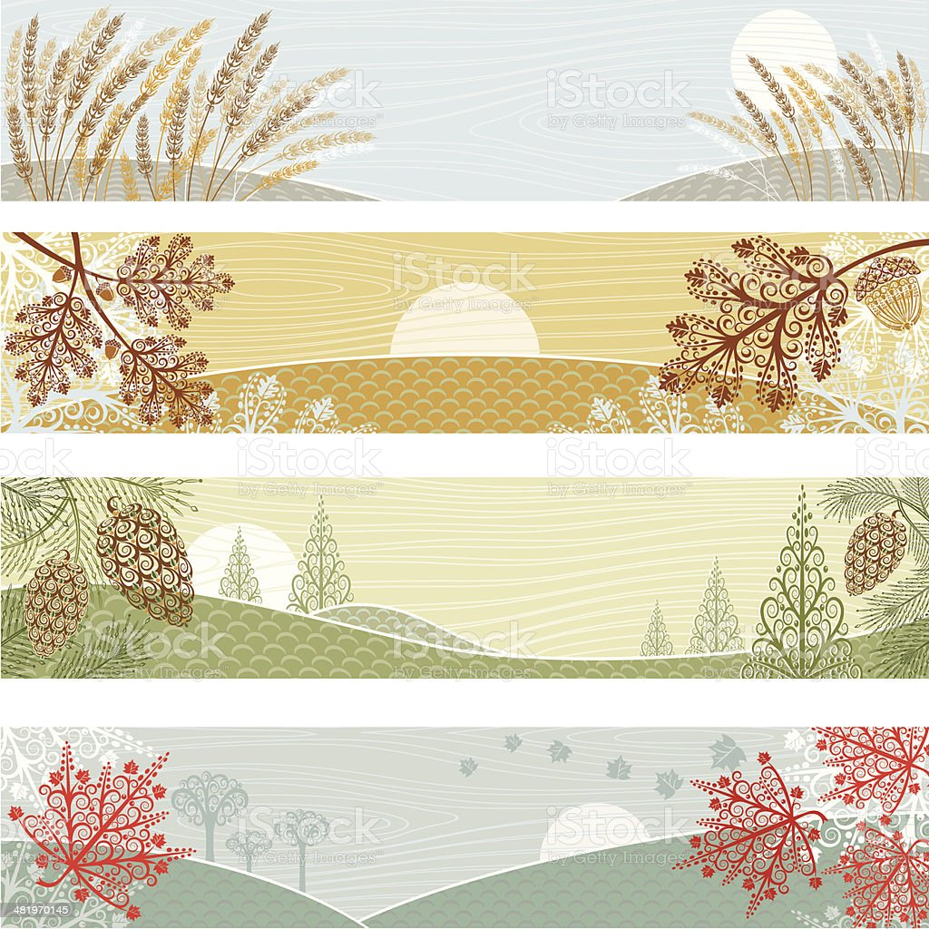 Autumn Banners royalty-free autumn banners stock vector art & more images of abstract