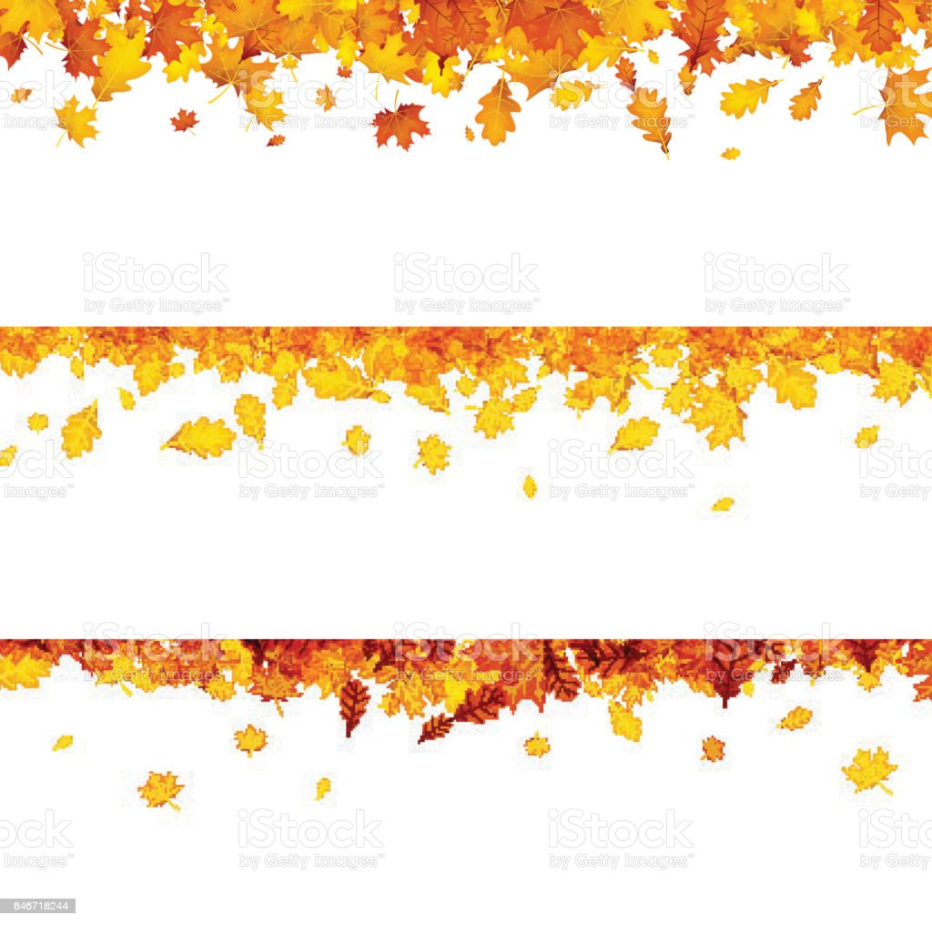Autumn Banners With Orange Leaves Stock Vector Art & More ...