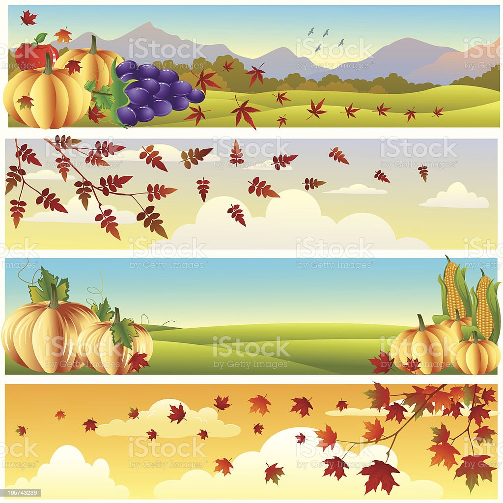Autumn Banner/thanksgiving... royalty-free stock vector art