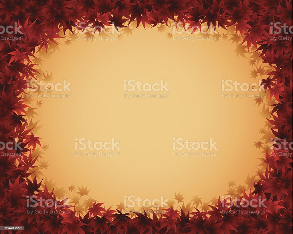 autumn border royalty-free stock vector art