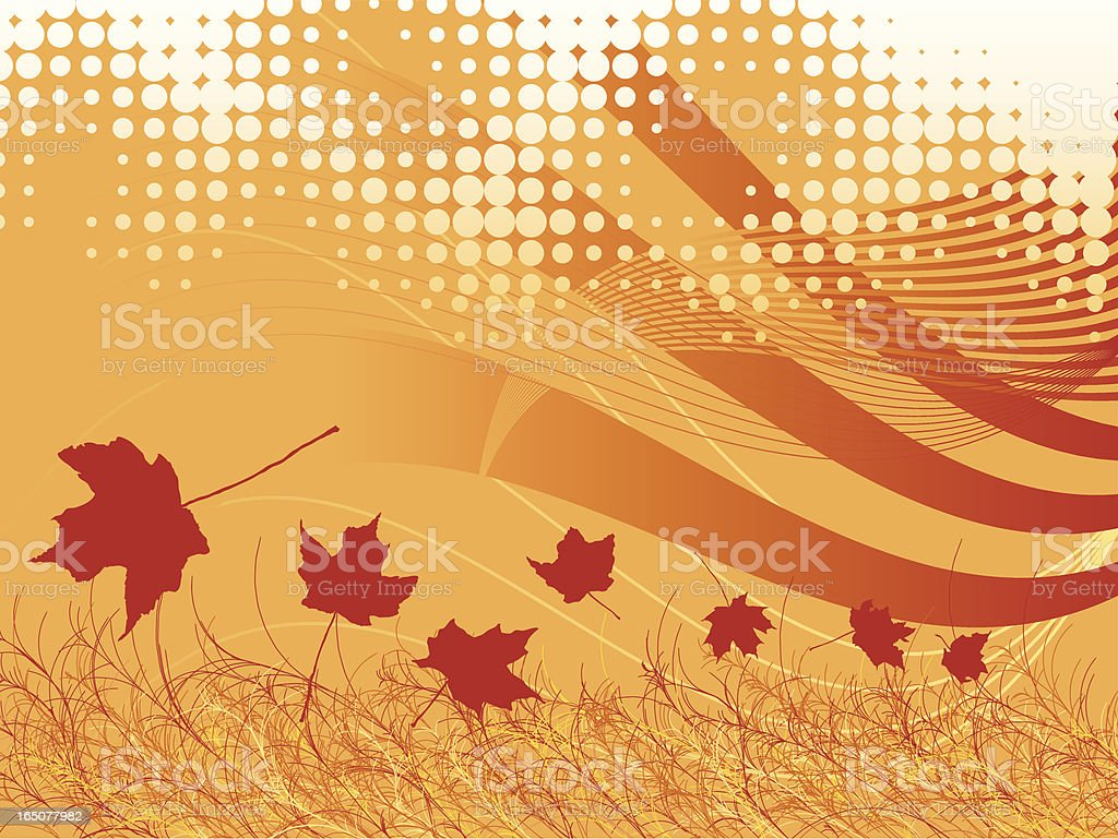 Autumn Breeze royalty-free stock vector art