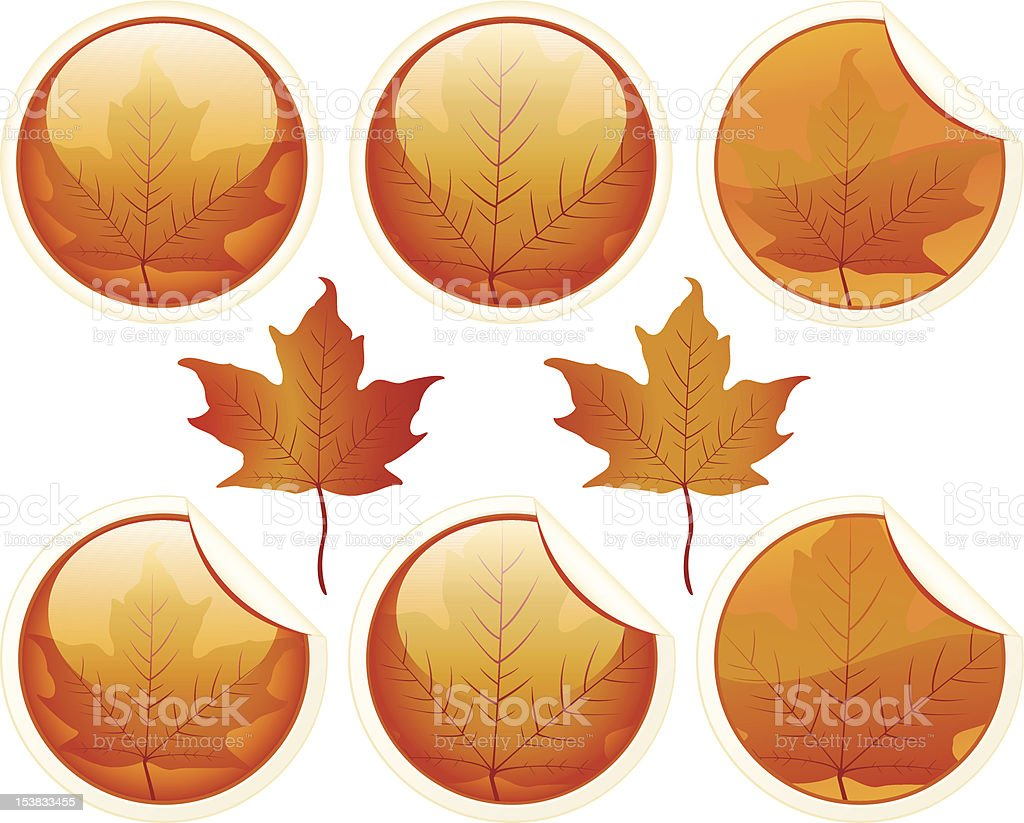 Autumn buttons royalty-free stock vector art