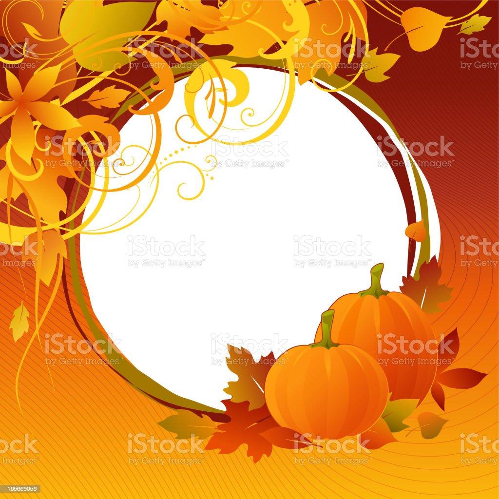 autumn card royalty-free stock vector art