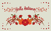 autumn background with elements for your design