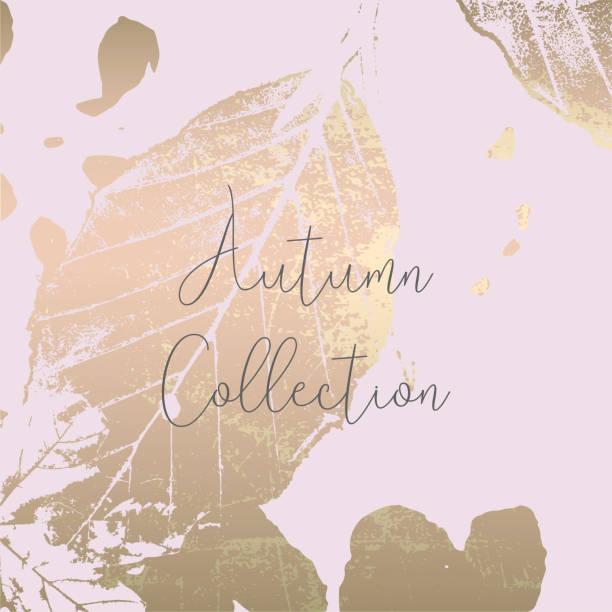 ilustraciones, imágenes clip art, dibujos animados e iconos de stock de oro elegante moda de la colección otoño - moda de otoño