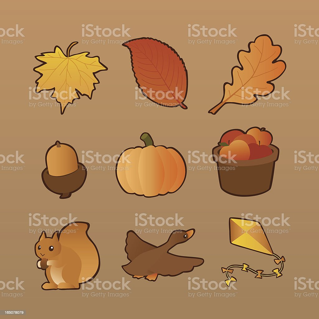 Autumn Collection royalty-free stock vector art