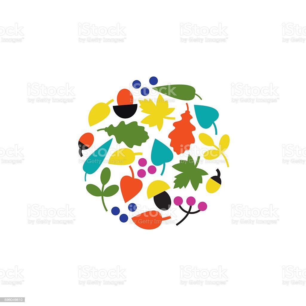 Autumn collection vector illustration royalty-free autumn collection vector illustration stock vector art & more images of acorn