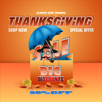 Autumn commercial events, Thanksgiving day, sales