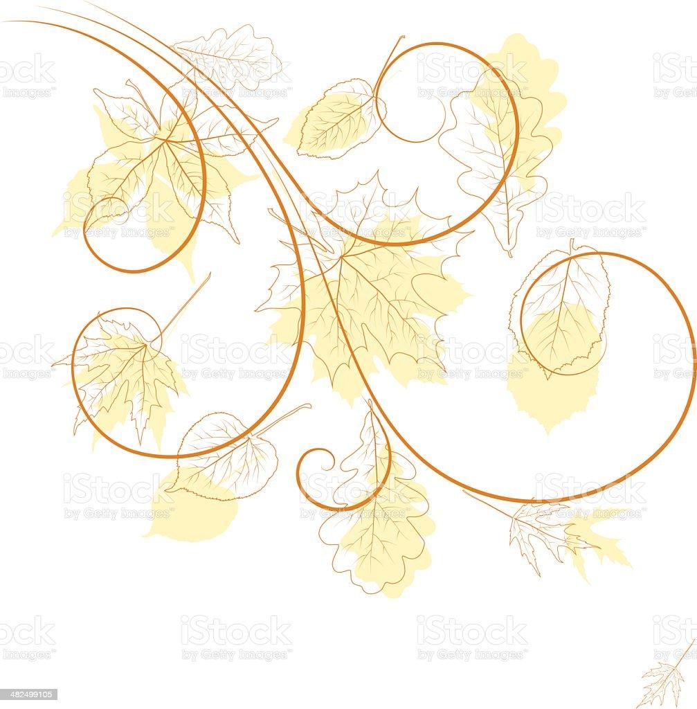 Autumn composition royalty-free stock vector art