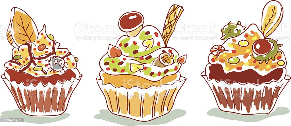 Autumn cupcakes royalty-free autumn cupcakes stock vector art & more images of acorn