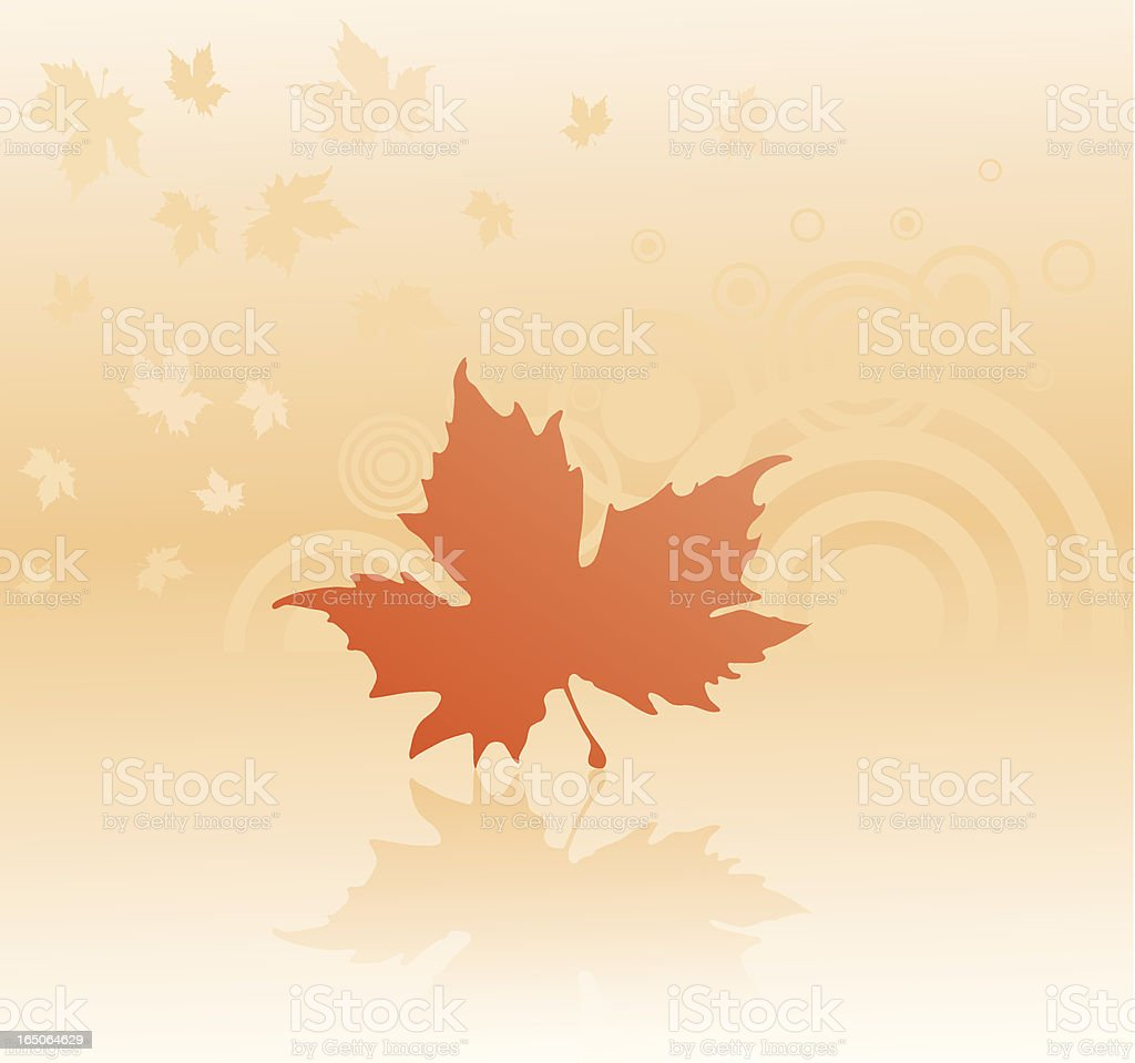 Autumn detail. royalty-free stock vector art