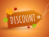 Autumn discount sticker
