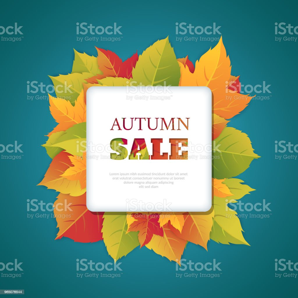 Autumn discounts. Abstract background with autumn ornament. autumn discounts abstract background with autumn ornament - stockowe grafiki wektorowe i więcej obrazów biznes royalty-free