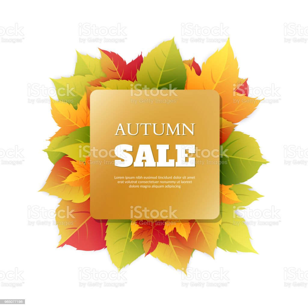 Autumn discounts. Abstract background with autumn ornament. royalty-free autumn discounts abstract background with autumn ornament stock vector art & more images of autumn
