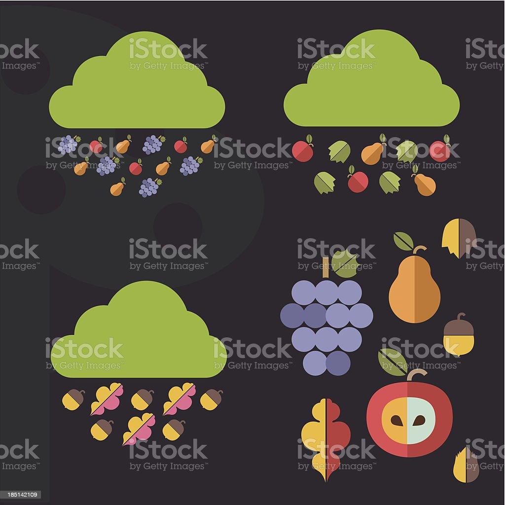 Autumn elements royalty-free stock vector art