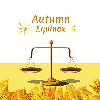 Autumn Equinox Day Vector Illustration