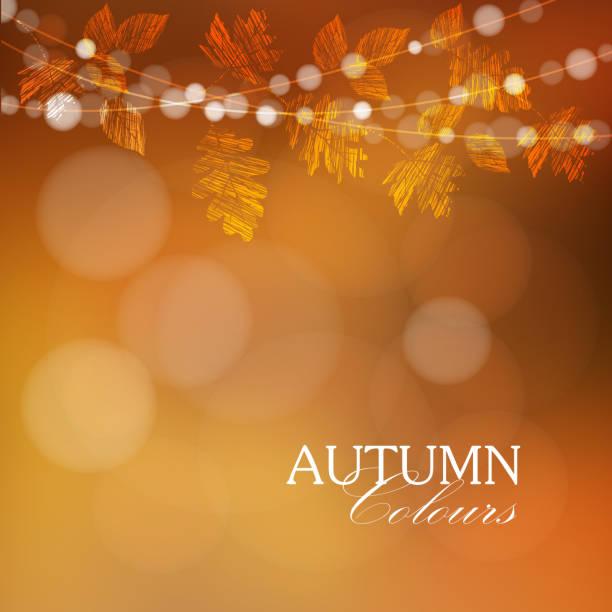 autumn 、秋を背景に、照明、ベクター - 休日/季節ごとのイベント点のイラスト素材/クリップアート素材/マンガ素材/アイコン素材