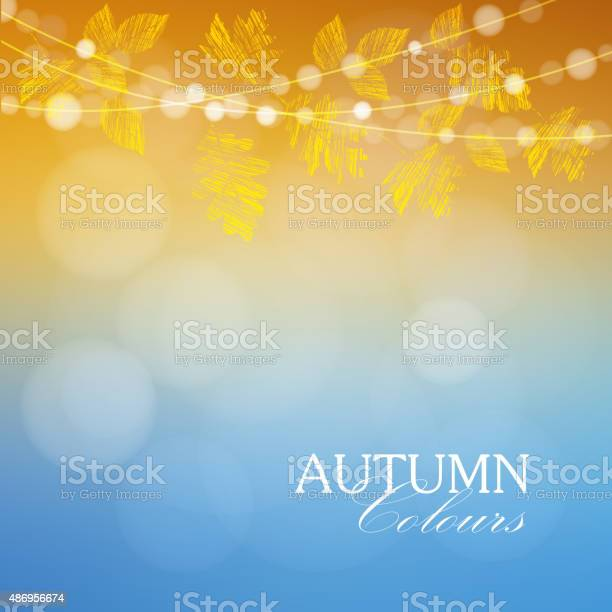 Autumn fall background with maple oak leaves and lights vector vector id486956674?b=1&k=6&m=486956674&s=612x612&h=bf is9xguqrbxbvhulx3on7uc0qd8cl g7t biidnv4=