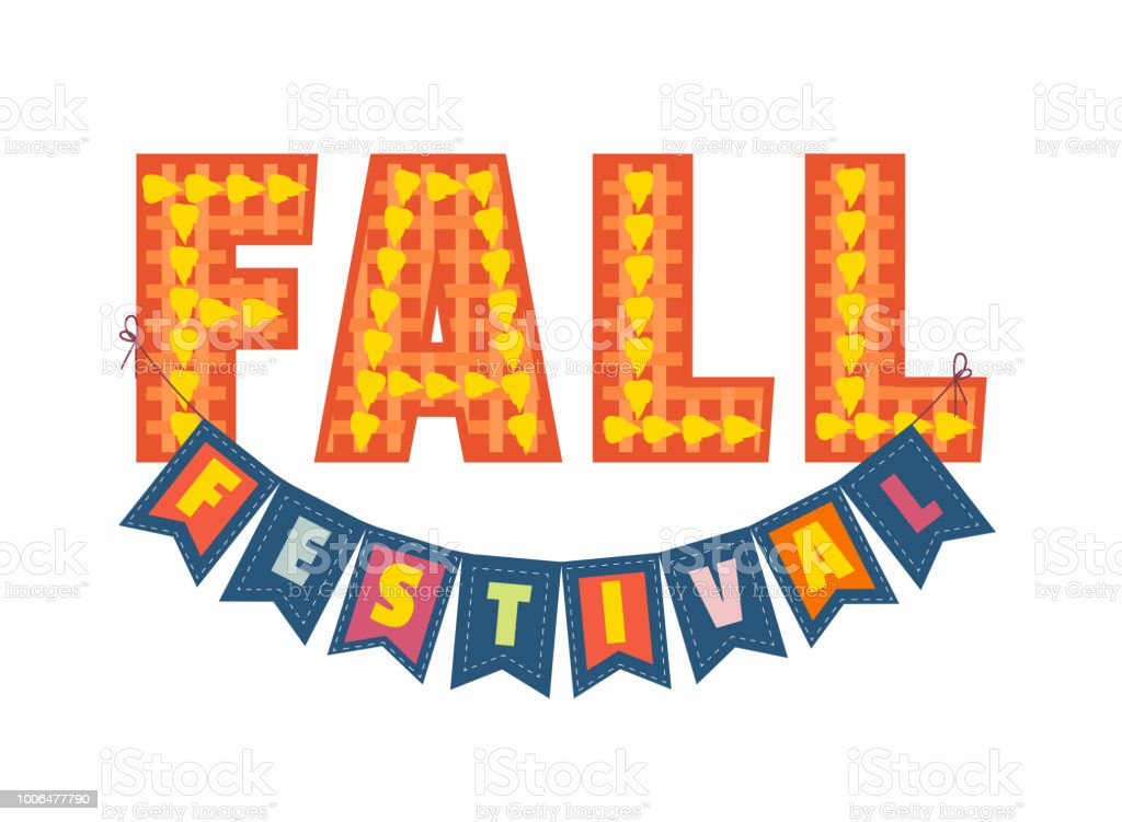 Autumn Fall Festival - Royalty-free Advertentie vectorkunst