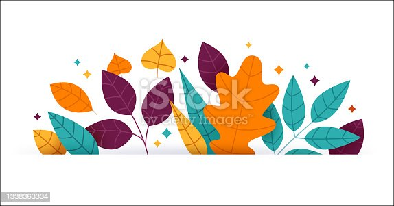 istock Autumn Fall Leaf Border 1338363334