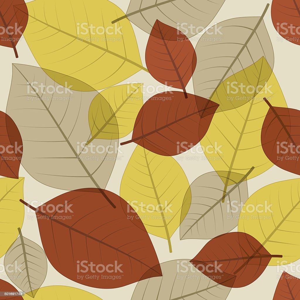 Autumn Fall Leaves vector art illustration