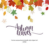 istock Autumn falling leaves design 872887996
